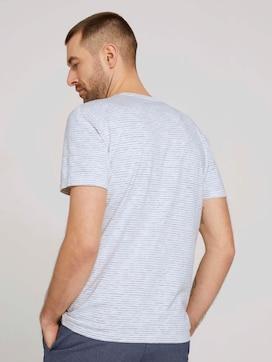 Gestreiftes T-Shirt mit Print - 2 - TOM TAILOR