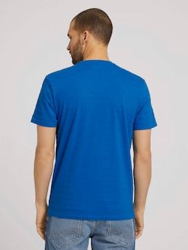 T-Shirt mit Strukturstreifen - 2 - TOM TAILOR