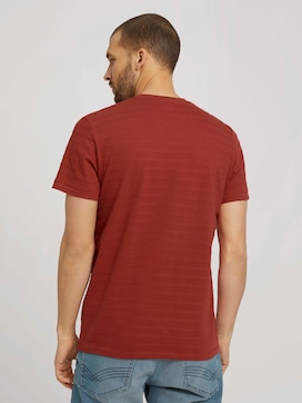 T-shirt with textured stripes - 2 - TOM TAILOR