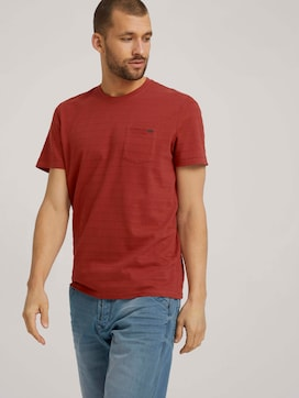 T-shirt with textured stripes - 5 - TOM TAILOR