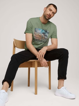 Used Look T-Shirt mit Print - 5 - TOM TAILOR