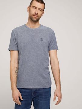 T-shirt met logo borduursel - 5 - TOM TAILOR