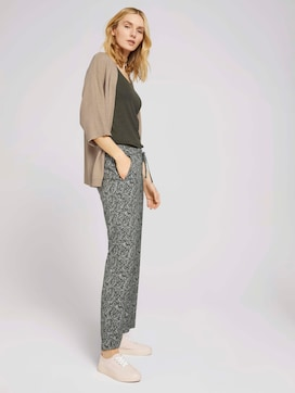 Gemusterte Loose Fit Hose - 3 - TOM TAILOR