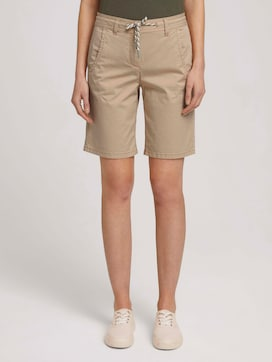 Bermuda shorts with a drawstring - 1 - TOM TAILOR