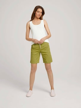 Bermuda shorts with a drawstring - 3 - TOM TAILOR