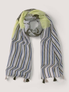 Print scarf with tassels - 7 - TOM TAILOR