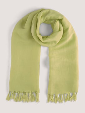 Linen scarf with fringes - 7 - TOM TAILOR