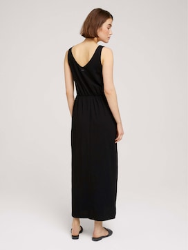 Sleeveless maxi dress with a button tab - 2 - TOM TAILOR Denim