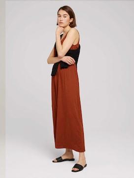 Mouwloze maxi jurk met knoopsluiting - 2 - TOM TAILOR Denim