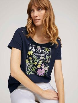T-shirt met print op de borst met biologisch katoen  - 5 - TOM TAILOR