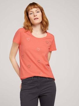 T-shirt met hartjesprint op de voorkant - 5 - TOM TAILOR