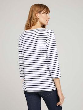 shirt met lange mouwen met dessin - 2 - TOM TAILOR