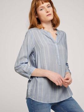 Gestreepte blouse met halve knoopsluiting - 5 - TOM TAILOR