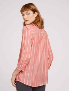 striped blouse with half a button tab - 2 - TOM TAILOR