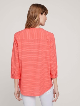 patterned blouse with half a button tab - 2 - TOM TAILOR