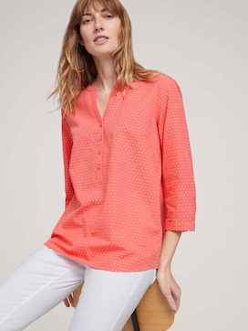 patterned blouse with half a button tab - 5 - TOM TAILOR