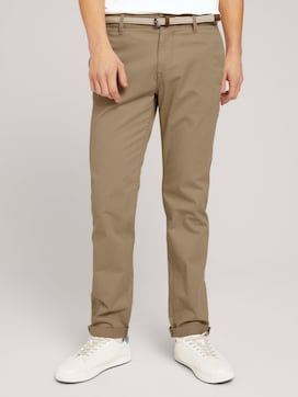 Basic Chino Hose mit Gürtel - 1 - TOM TAILOR Denim
