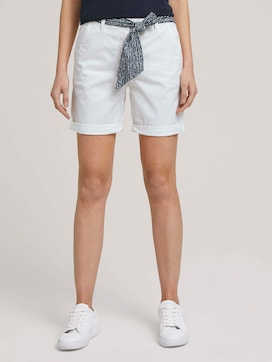 Relaxed Chino Bermuda Shorts - 1 - TOM TAILOR