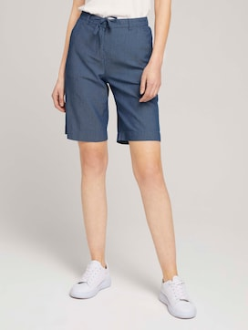 Gemusterte Lea Slim Bermuda Shorts - 1 - TOM TAILOR