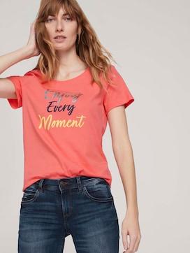 T-Shirt mit Print mit Bio-Baumwolle  - 5 - TOM TAILOR
