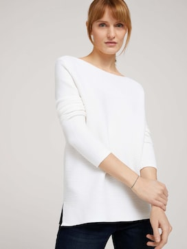 ottoman sweater made with organic cotton  - 5 - TOM TAILOR