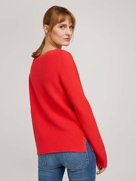 long-sleeved shirt with an ottoman texture made with organic cotton  - 2 - TOM TAILOR