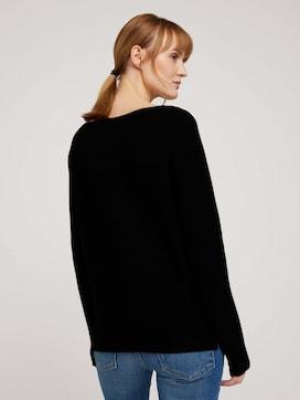 Shirt met lange mouwen met Ottomaanse textuur met biologisch katoen  - 2 - TOM TAILOR
