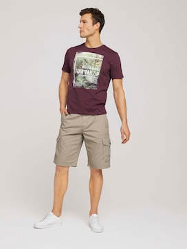 Twill Cargo Shorts - 3 - TOM TAILOR