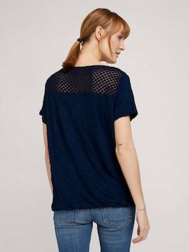 T-shirt met kanten inzetstuk en elastische tailleband - 2 - TOM TAILOR