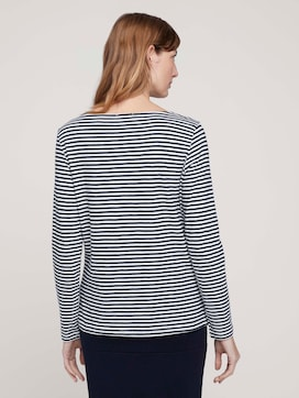 striped long-sleeved shirt made with organic cotton  - 2 - TOM TAILOR