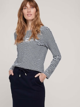 striped long-sleeved shirt made with organic cotton  - 5 - TOM TAILOR