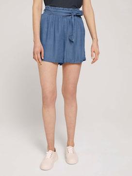 Relaxed lyocell shorts - 1 - TOM TAILOR Denim