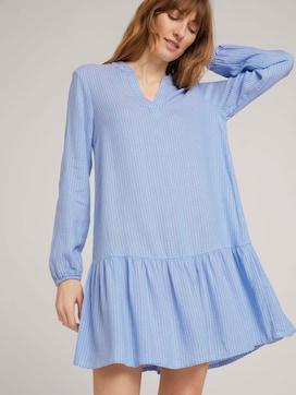 Gestreiftes Tunika Kleid mit Leinen - 5 - TOM TAILOR