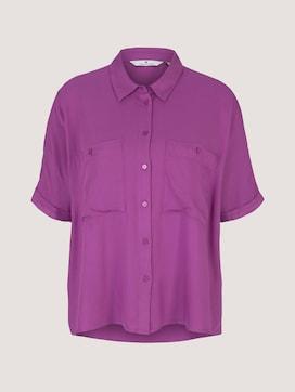 Losse blouse met korte mouwen en borstzakken - 7 - TOM TAILOR