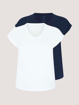 Loose Fit T-Shirt im Doppelpack - 7 - Tom Tailor E-Shop Kollektion