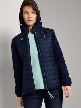 hybrid quilted jacket with a hood - 5 - TOM TAILOR