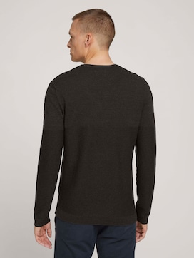 Textured sweater with organic cotton - 2 - TOM TAILOR