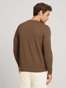 Strukturierter Pullover mit Bio-Baumwolle - 2 - TOM TAILOR
