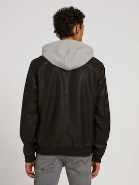 leather jacket with a hood - 2 - TOM TAILOR Denim