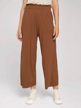 Pleated culotte trousers - 1 - TOM TAILOR Denim
