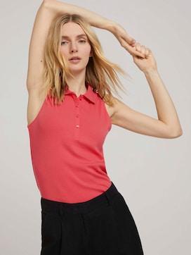 Ärmelloses Poloshirt mit Bio-Baumwolle - 5 - TOM TAILOR
