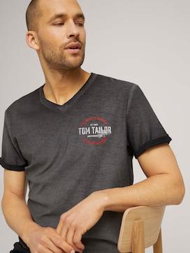T-Shirt im Used Look mit Print - 5 - TOM TAILOR