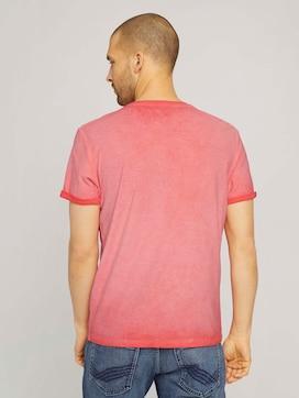 T-Shirt im Used Look mit Print - 2 - TOM TAILOR