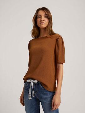 Halbarm Shirt mit Strukturmuster - 5 - TOM TAILOR