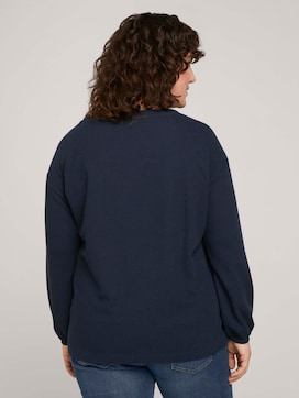 Sweatshirt with waffle structure - 2 - My True Me