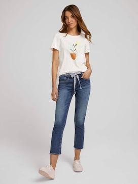 Alexa Slim Jeans 7/8 met strikceintuur - 3 - TOM TAILOR