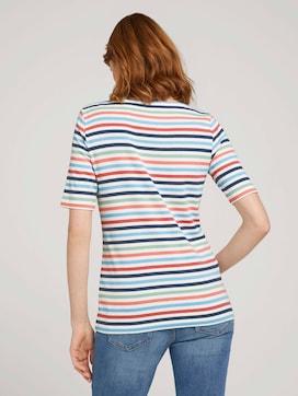 T-shirt gestreift mit Bio-Baumwolle  - 2 - TOM TAILOR