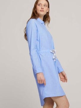 Mini blouse dress with a belt - 5 - TOM TAILOR Denim
