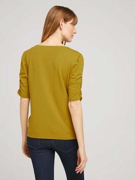 T-shirt met gerimpelde mouwen - 2 - TOM TAILOR