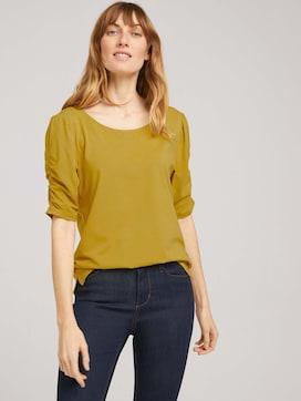 T-shirt met gerimpelde mouwen - 5 - TOM TAILOR